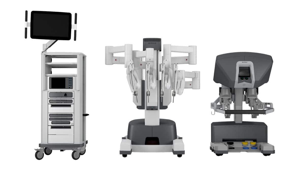 robot chirurgical da vinci X de la clinique Ambroise Paré